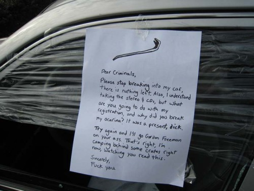Stop-breaking-into-my-car-note