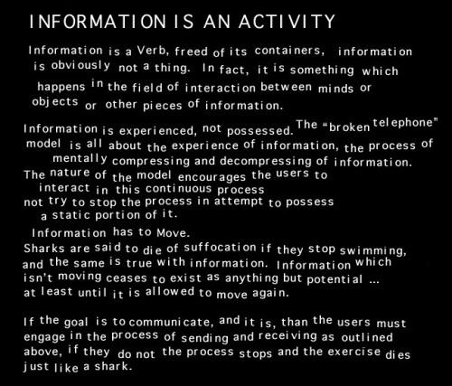 Informationisanactivity