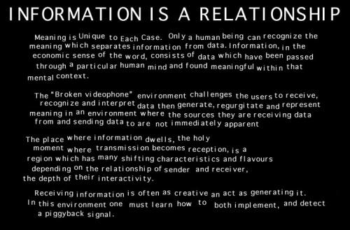 Informationisarelationship